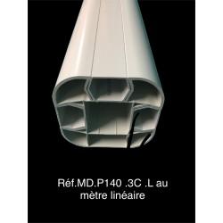 Poteau PVC P140 + 3...